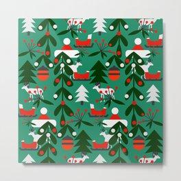 Christmas evergreens Metal Print