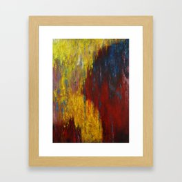 Dripping Color Framed Art Print