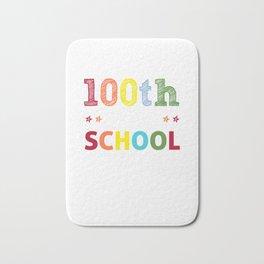 100 days smarter - funny school print - perfect present Bath Mat