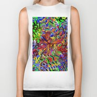 seashell Biker Tanks featuring offshore seashell by donphil