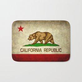 California Republic Retro Flag Bath Mat