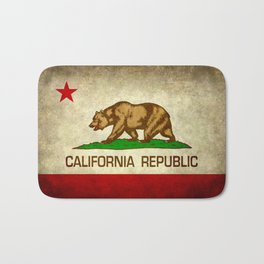 California Republic Retro Flag Bath Mat