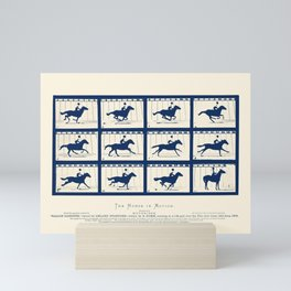 Horse In Motion - Sallie Gardner At A Gallop Mini Art Print