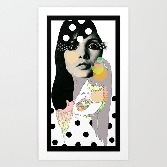 b & w Art Print