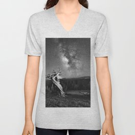 Under Starry Sky At Night Unisex V-Neck