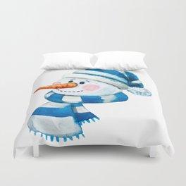 Blue Snowman 01 Duvet Cover