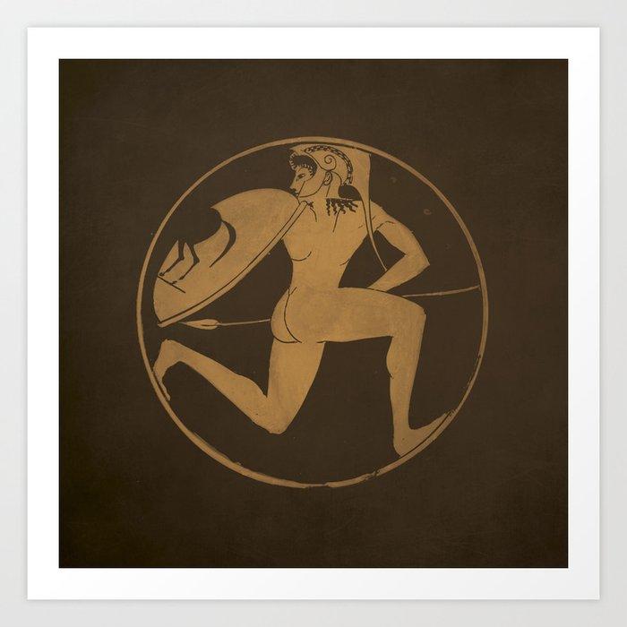 antique greek art art print by nxolab society6