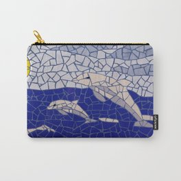 """Dolphins"" Unique mosaic  Carry-All Pouch"