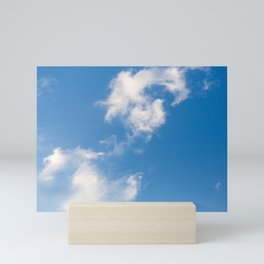 Cloud in a Blue Sky Mini Art Print