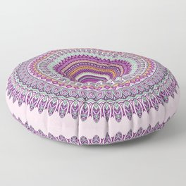 Pastel Mandala in shades on pink and purple Floor Pillow