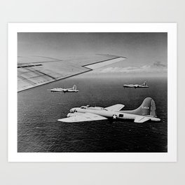 B-17F Flying Fortress Bombers over the Southwest Pacific Art Print