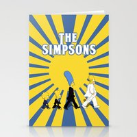 simpson Stationery Cards featuring Simpson Sun by sgrunfo