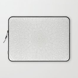 Cream on White Mandala Circle of Life Laptop Sleeve