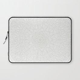 Cream on White Mandala Circle of Life Laptop Sleeve