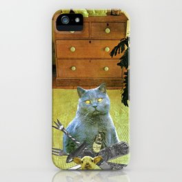 I had to get my own dinner handcut collage iPhone Case