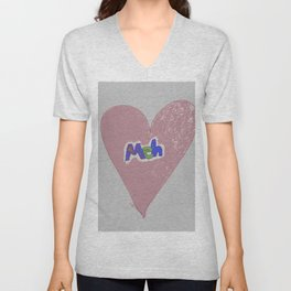 Valentine Sarcasm in grungy colors Unisex V-Neck