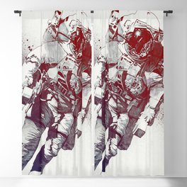 Clavius: red | lonely astronaut in the space Blackout Curtain
