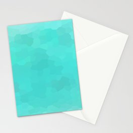 Aqua Turquoise Mosaic Stationery Cards