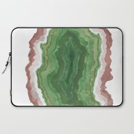 Green Agate Geode Slice Laptop Sleeve
