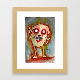 Jake the Zombie dog Framed Art Print