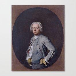Portrait of a Man ca. 1740 - 1742 Giacomo Ceruti Canvas Print