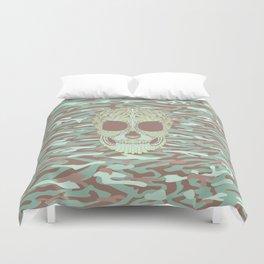 camouflage skull Duvet Cover