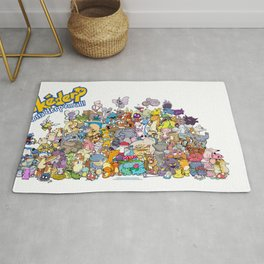 Pokémon - Gotta derp 'em all! - Group photo Rug