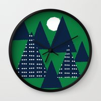 camping Wall Clocks featuring Camping by pegeo