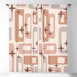 Retro Mid Century Modern Abstract Pattern 124 Blackout Curtain