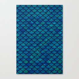 Mermaid scales iridescent sparkle Canvas Print