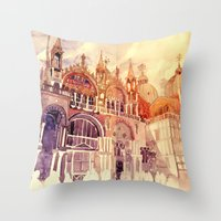 takmaj Throw Pillows featuring Venezia by takmaj