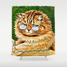 ORANGE TABBY CAT - Louis Wain's Cats Shower Curtain