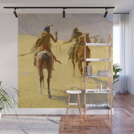 "Frederic Remington Western Art ""The Parley"" Wall Mural"