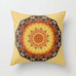 Colors of Rust 05.5, mandala-style-rust Throw Pillow