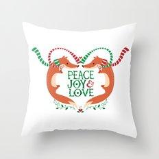 Peace, Joy, Love Throw Pillow