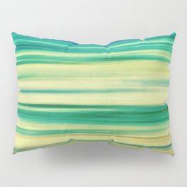 stripes of blue and green Pillow Sham