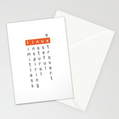 Linux - limitless, inspiring, natural, useful, extrovert - horizontal Stationery Cards