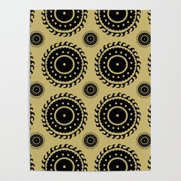 Black and Olive print Poster