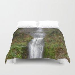 Multnomah Falls in Autumn Duvet Cover