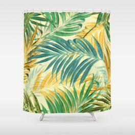 Yellow Blue Green Shower Curtains