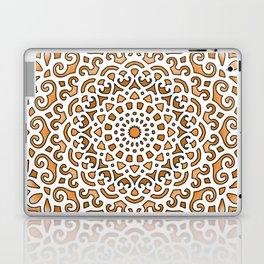 16 Fold Mandala in Orange Laptop & iPad Skin