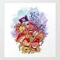 Los Piratas Art Print