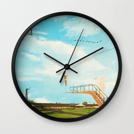 they made great leaps to follow in the flight of birds Wall Clock