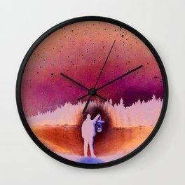 Searching, pastel pencil Wall Clock