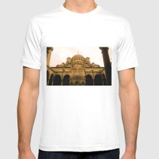 Mosque from above. White MEDIUM Mens Fitted Tee