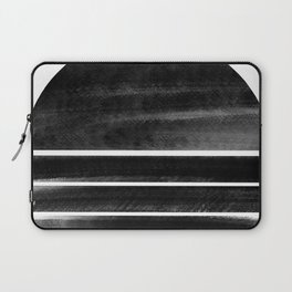 black and white shapes Laptop Sleeve