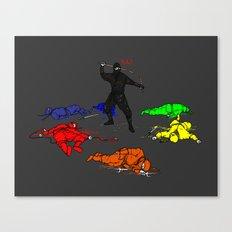 Anti-Colored Ninja Canvas Print