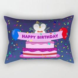 Penguin Surprise Birthday Rectangular Pillow