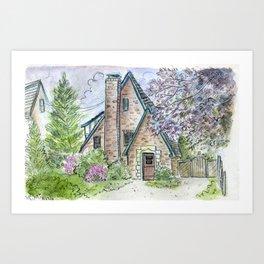 Brookline Cottage Art Print