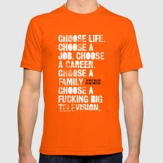 Trainspotting LARGE Orange Mens Fitted Tee